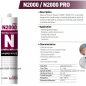 SILICON SEALANT NEUTRAL NURISEAL N2000 NEUTRAL BLACK TUBE 300 ml